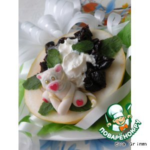 Десерт «Тигриная лодочка удачи»