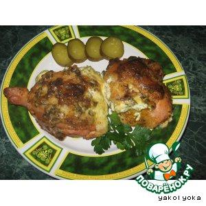 Куриные бeдрышки, запечeнные с сыром
