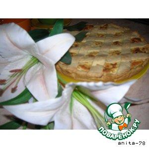 Куриный пирог-суфле с решеткой