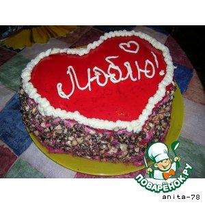 """Торт """"Клюквенное сердце"""""""
