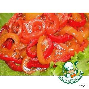 Сладкий салат из перцев