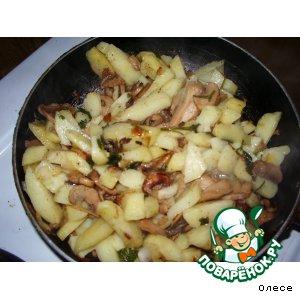 """Картофель с грибами """"Простейший"""""""
