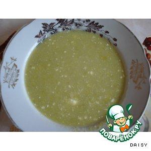 Суп из консервированного зеленого горошка
