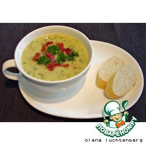 Крем-суп из лука порея с горчицей