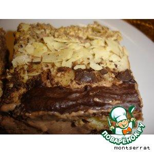 Песочный торт с шоколадным муссом и инжиром