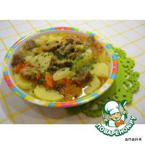 Мясо с картофелем по-татарски
