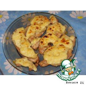 Куриная грудка в соевом соусе с ананасами
