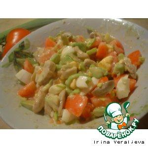 """Салат """"ША"""" - шампиньоны и авокадо"""