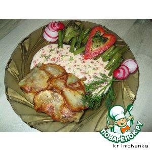 Филе хокки в картофельном кафтане