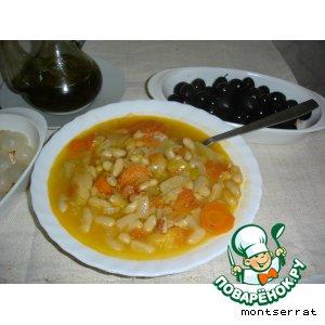 """Греческий фасолевый суп """"Фассолада"""""""
