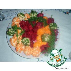 Цветные закусочные шарики