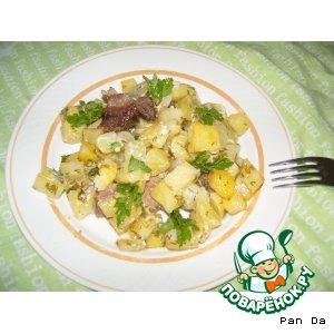 Запеченое мясо и картофель