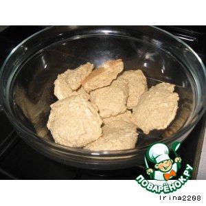 Кокосово-овсяное печенье на рассоле, постное