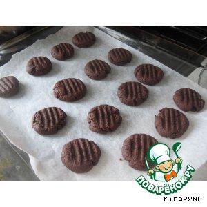 Шоколадно-малиновое печенье