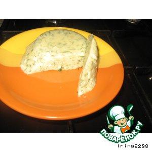 Домашний сыр с укропом