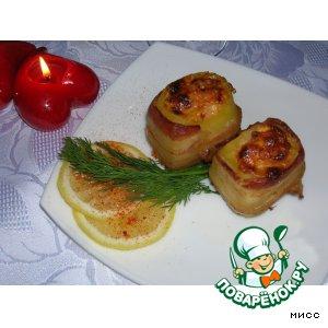 """Картофель, запечeнный с креветками """"Волшебный поцелуй"""""""