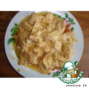 Куриные грудки в сырно-чесночном соусе