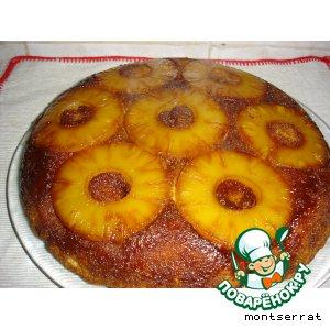 Пирог ананасный с карамелью