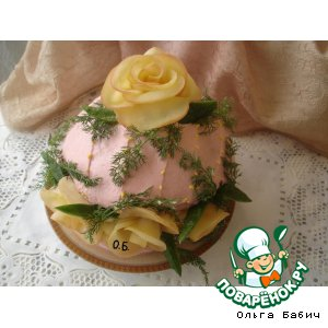"""Закусочный торт """"Подарочная шкатулка"""""""
