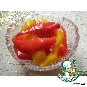 Двухцветный маринованный перец