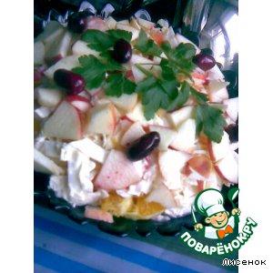 Салат из капусты с цитрусами