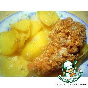 Куриное филе в ореховой панировке