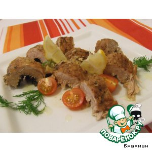Свинина с фенхелем и чесноком