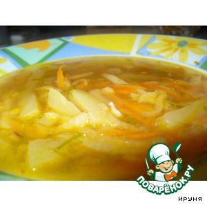 Суп с кальмарами