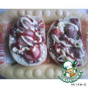"""Горячие бутерброды """"Мини-пиццы"""""""