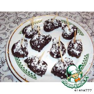 Жареный бисквит в шоколаде