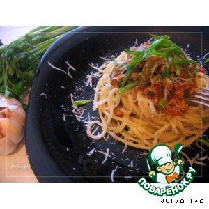 Паста с овощами и мясным фаршем