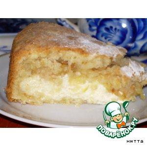 Яблочно-лимонный  творожный  пирог