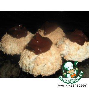 Боккончини с кокосом и шоколадом
