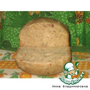 Хлеб с сыром и сырокопченой колбасой