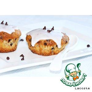 Творожно-банановые кексы с шоколадными чипсами