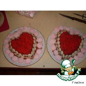 """Торт """"Влюбленное сердце"""""""