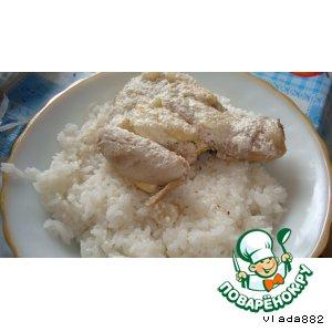 Курочка с рисом на пару