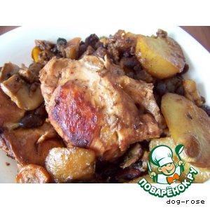Курица с фасолью «Чудеса»