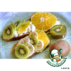 Бутерброды с фруктами к завтраку