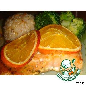Форель с апельсинами