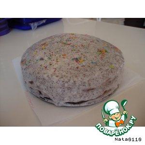 Бисквитный торт с кремом из творога