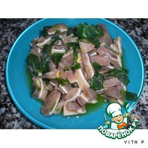 Салат-закуска из свиных ушей - Salada de orelha