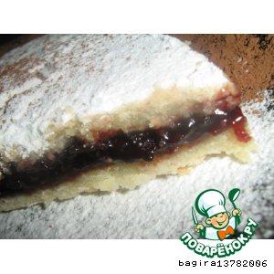 Белое тесто и пирог из него
