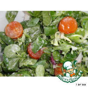 Рапунцель-салат с сырным соусом