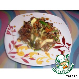 Салат с сырным омлетом