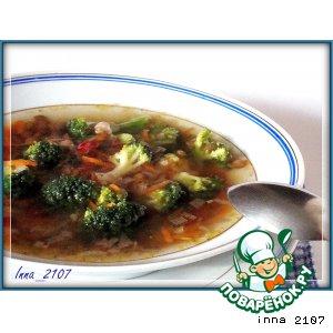 Суп из чечевицы с брокколи
