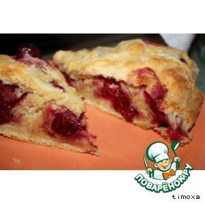 Пирог-рулет с вишней