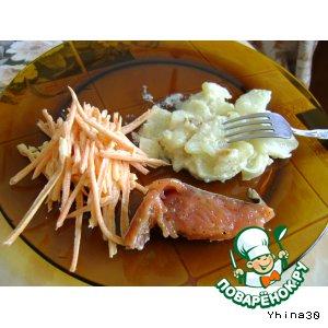 Жареный картофель в сметане
