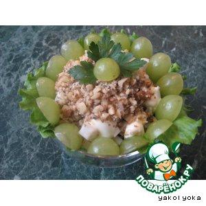 Салат с курицей, черносливом и корнем сельдерея