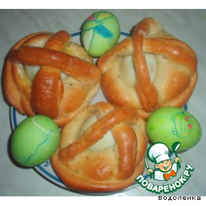 Корзиночки с яйцом
